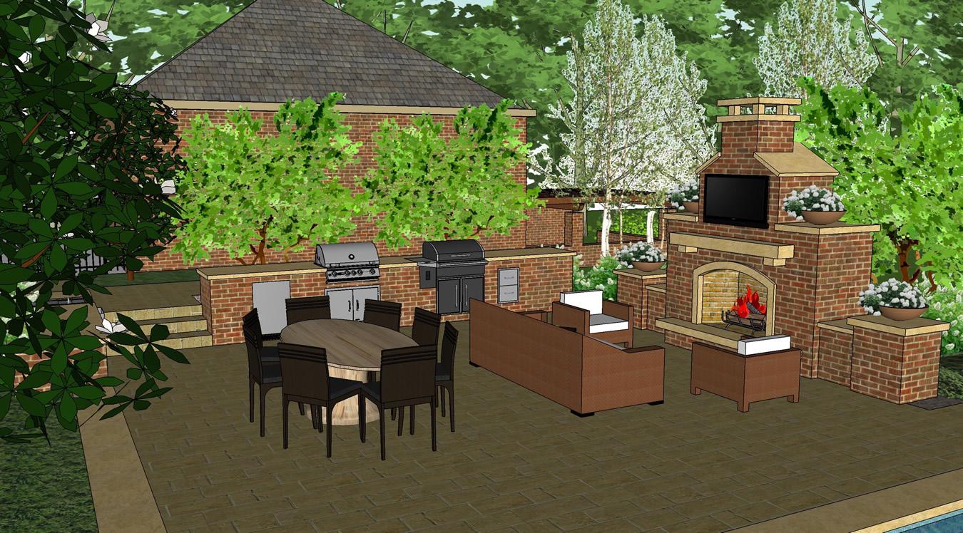 Pool Terrace Pool Design Gallery of Given Pool Designs LLC Kansas ...