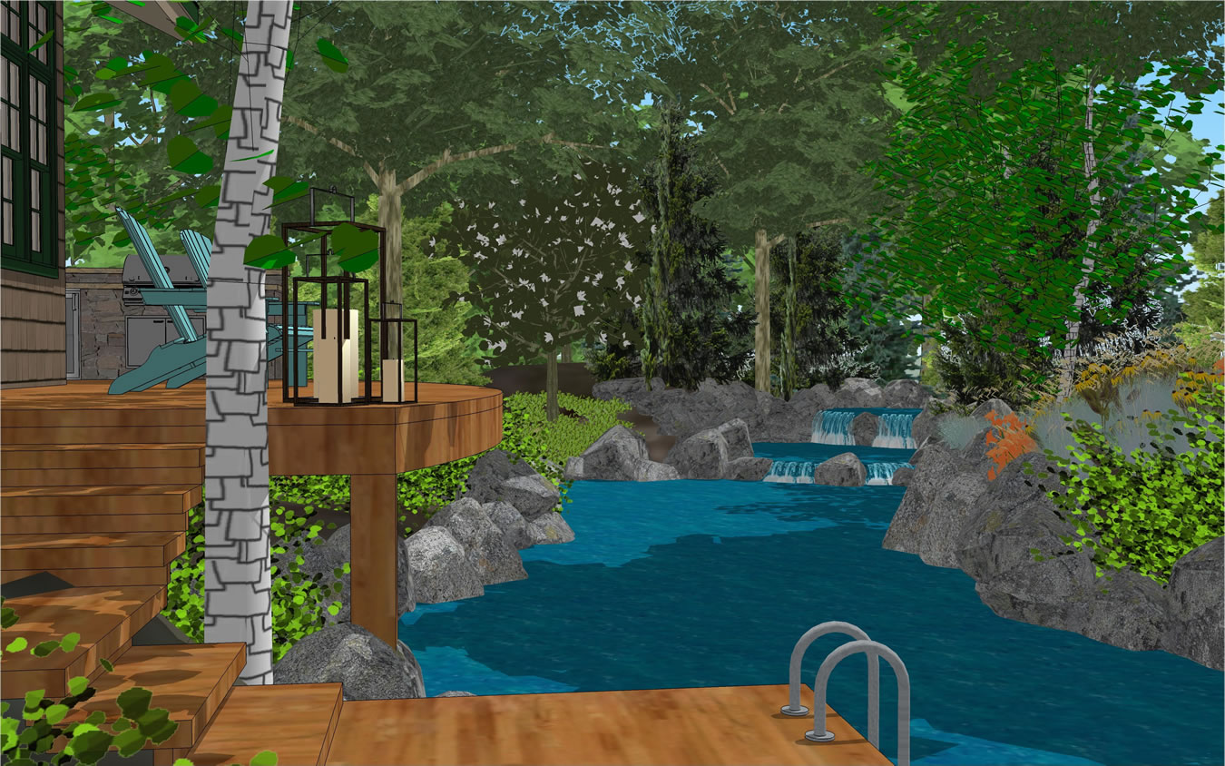 Treehouse swimming pool design gallery of given pool for Pool design kansas city