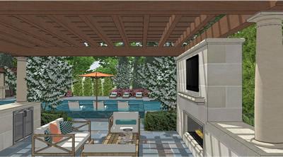 3D Sketch portfolio of Given Pool Designs LLC Kansas City swimming ...