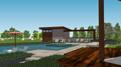 3d sketch portfolio of given pool designs llc kansas city for Pool design by laly llc
