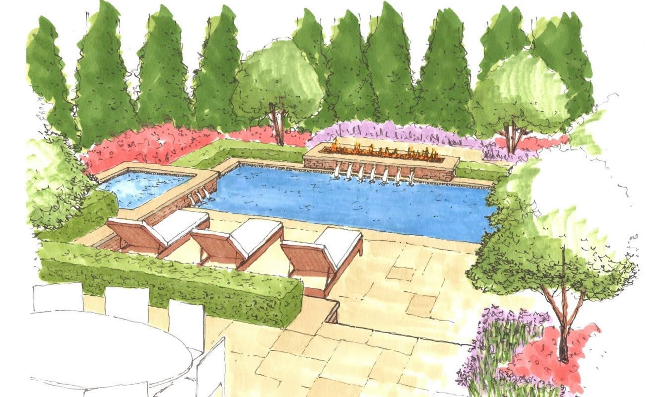 Sketch Portfolio Of Given Pool Designs LLC Kansas City Swimming Pool Design
